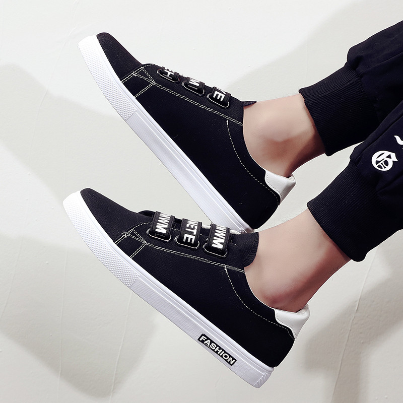 Men's Summer Trend Casual Snap On Shoes Male Fashion Trend Lazy Canvas Shoes