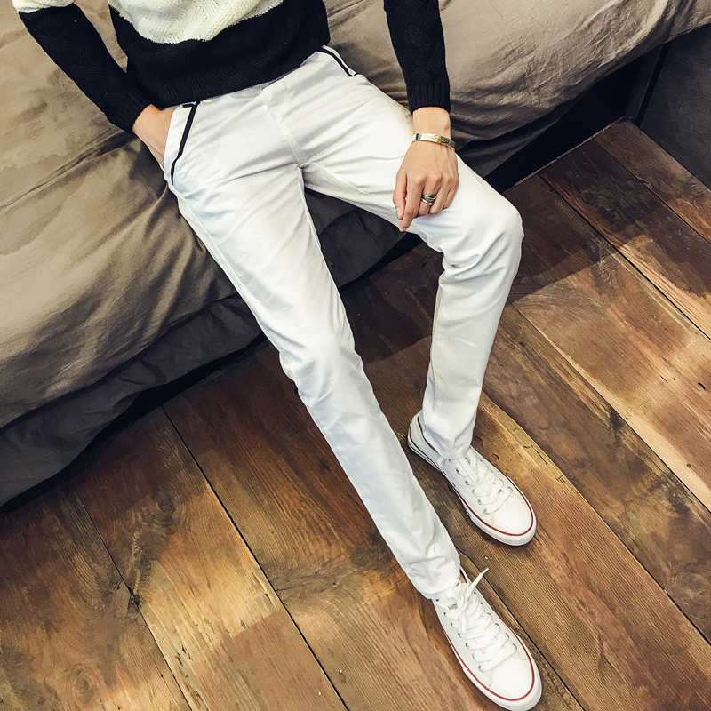 Men\'s Casual Straight Pants Slim Fit Korean Business Fashion Male Trend Trousers