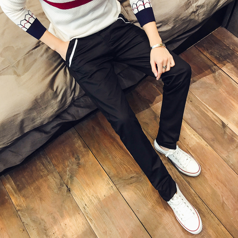 Men's Casual Straight Pants Slim Fit Korean Business Fashion Male Trend Trousers