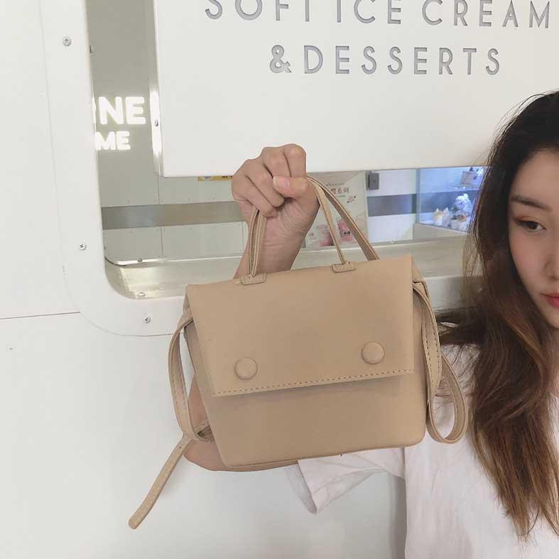 Women Solid Color Simple Shoulder Bag Hot Trend Mini Package Chic Sling Bag