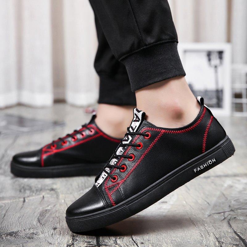 Men\'s Board Casual Shoes Street Fashion Lace Up Low Cut Male Sneaker Shoes