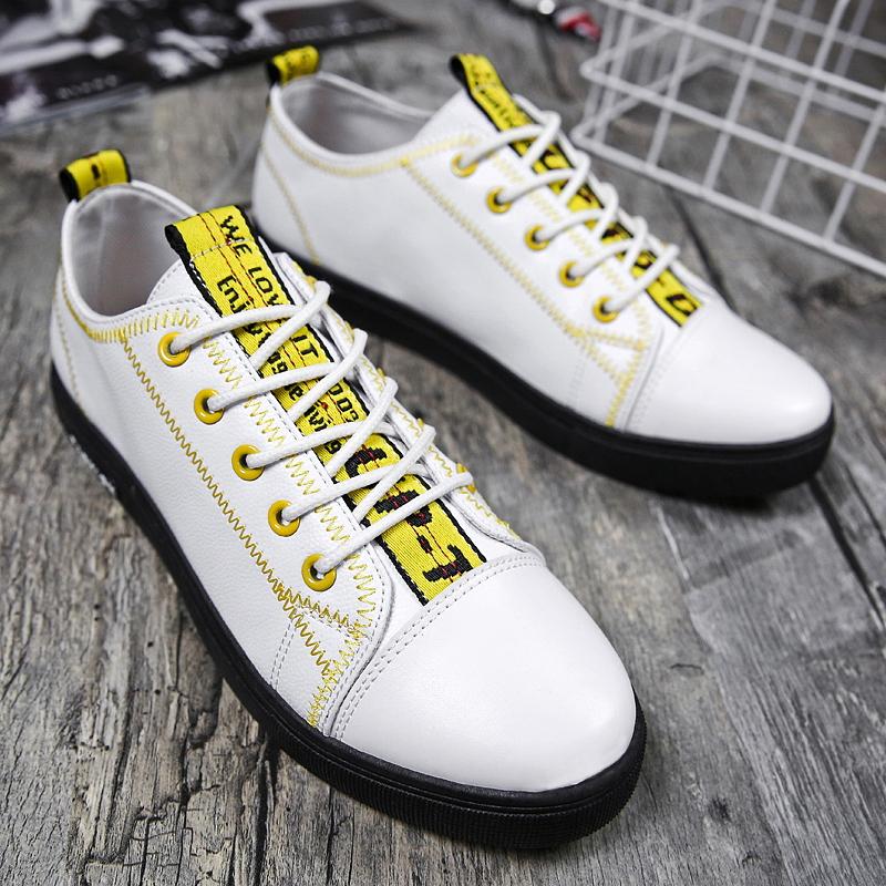 Men's Board Casual Shoes Street Fashion Lace Up Low Cut Male Sneaker Shoes