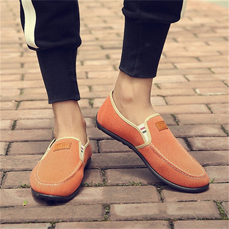 Men's Pedal Lazy Shoes Summer Fashion Wild Trend Male Canvas Flat Shoes