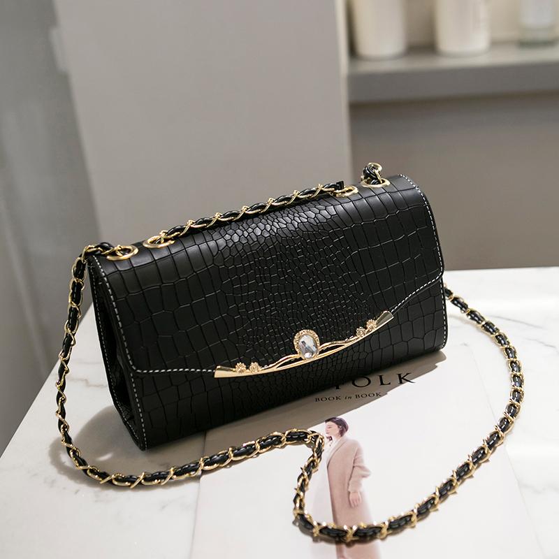 Women Fashion Square Bag Chain Shoulder Strap Casual Chic Shoulder Sling Bag