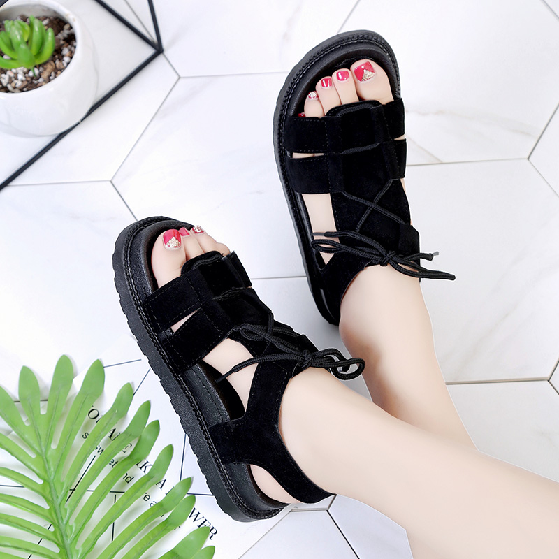 Women Open Toe Roman Female Sandals Summer Beach Fashion Plus Size Sandals