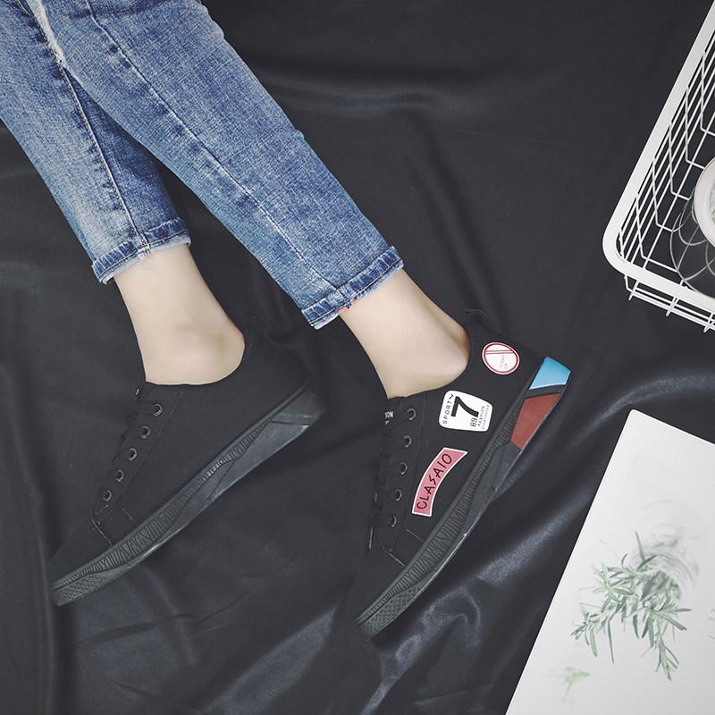 Men\'s Stitch Statement Canvas Shoes Lace Up Hot Trend Male Sneaker Fashion Shoes