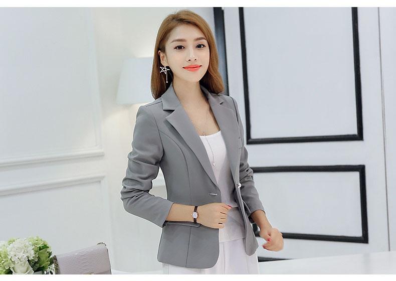 Women Solid Color Casual Blazer Business Fashion Suit Ladies Plus Size Jacket