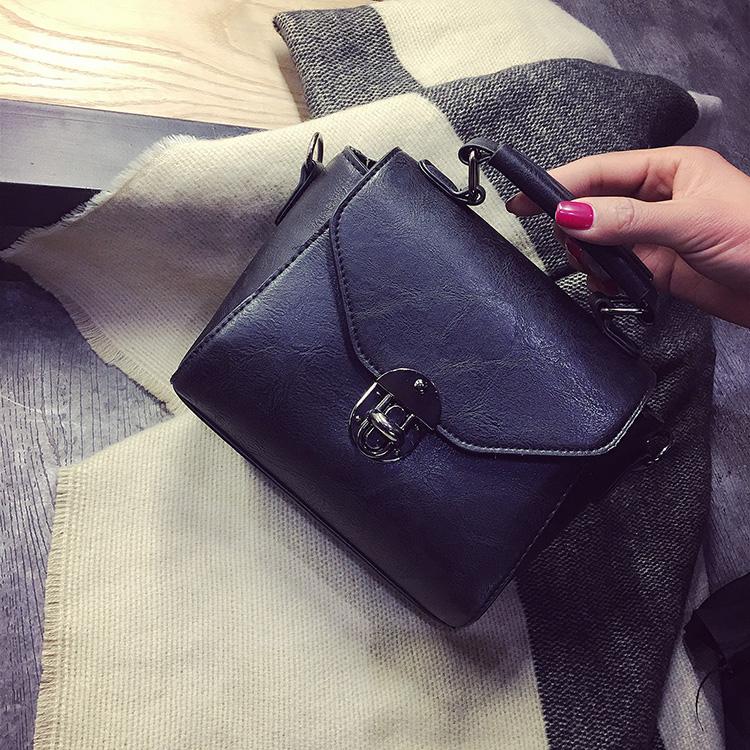 Women Simple Square Retro Messenger Fashion Bag Small Shoulder Sling Bag