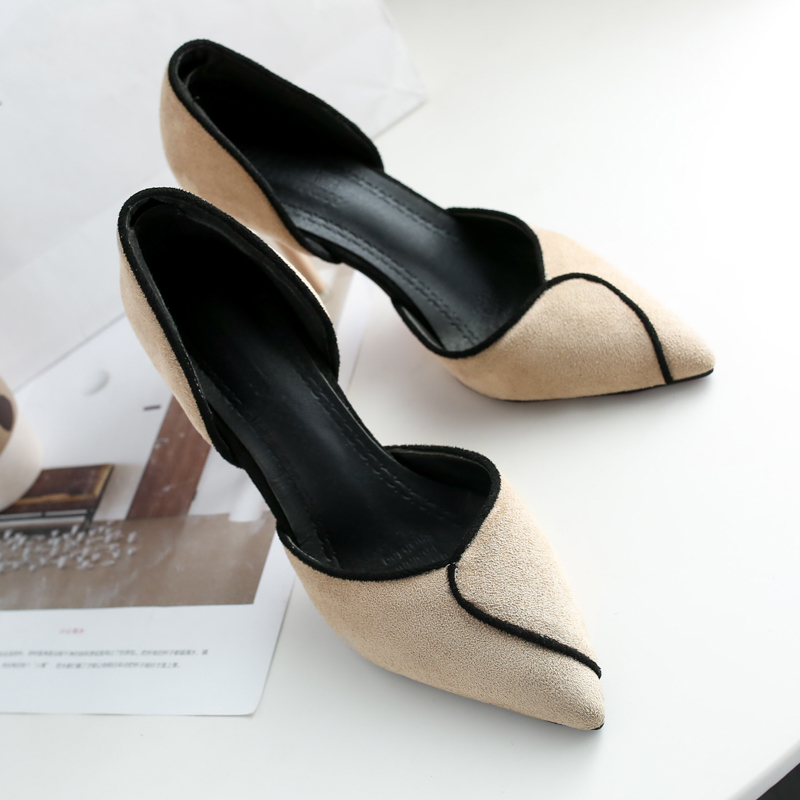 Women Suede Sexy Pointed High Heels Chic Fashion Classy Trend Plus Size Shoes