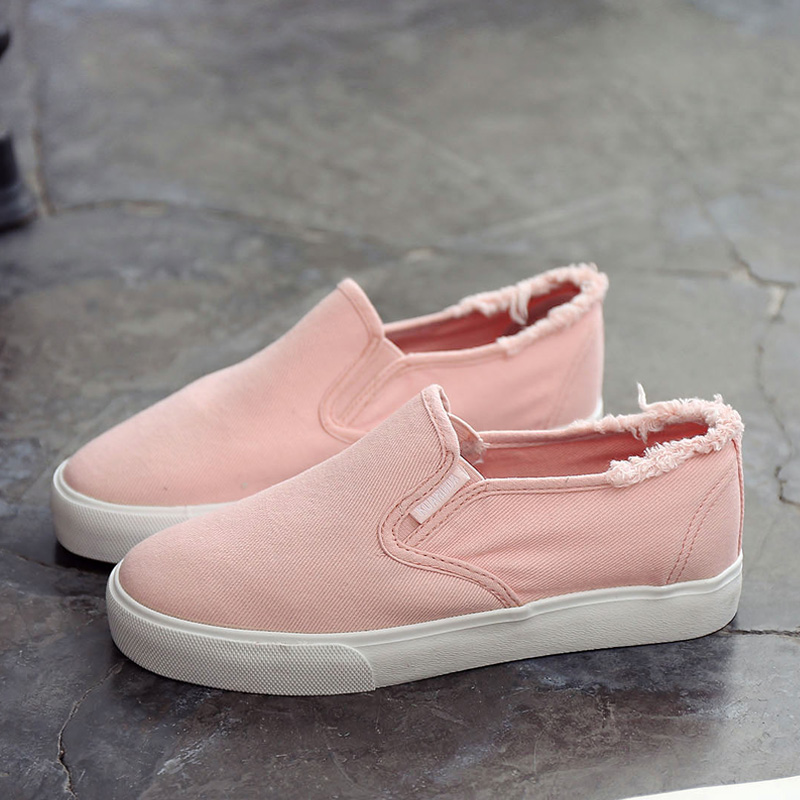 Women Tattered Style Casual Loafers Everyday Wear Lazy Shoes Plus Size Sneakers
