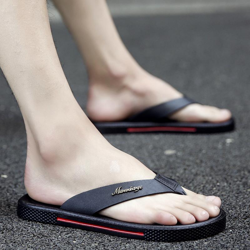 5b359cf5be20 Men s Casual Summer Slippers Non Slip Beach Trend Fashion Male Flip Flops