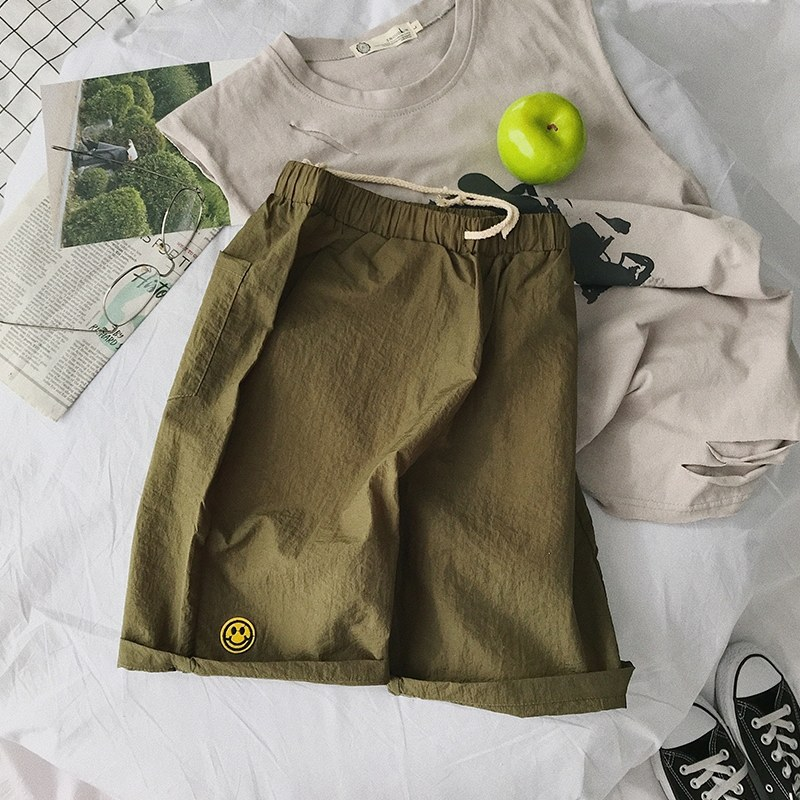 Men's Smiley Lightweight Short Pants Casual Summer Male Fashion Plus Size Shorts