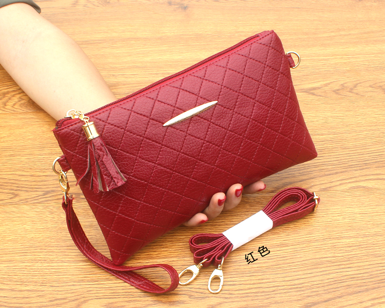 Women Solid Color Small Clutch Bag Mobile Envelope Bag Chic Fashion Purse