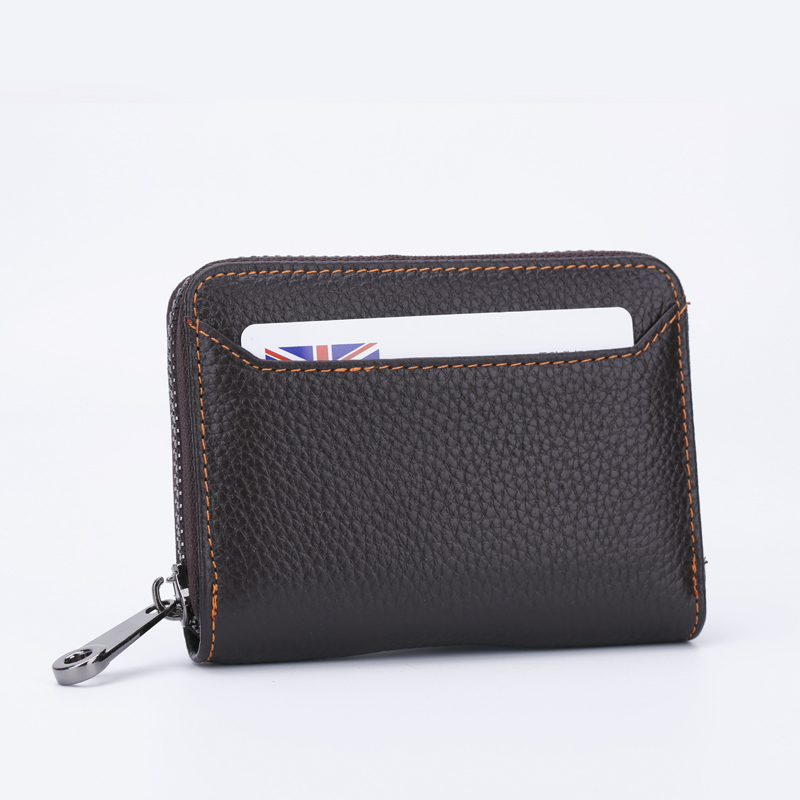 Men's Mini Multi Card Holder Zippered Hot Trend Wallet Unisex Fashion Purse