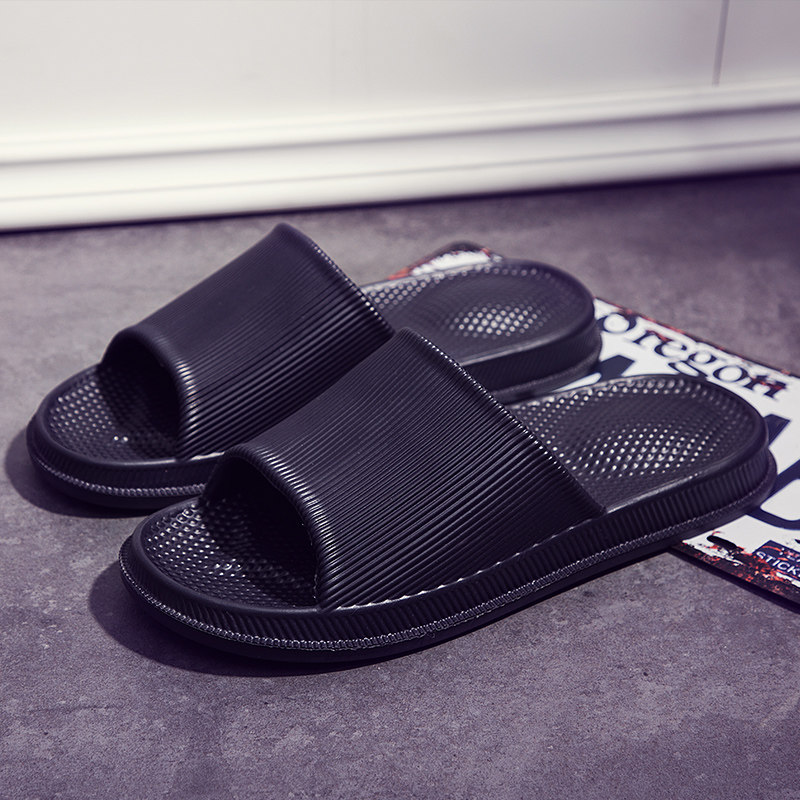 Men's Simple Solid Color Slippers Outdoor Beach Fashion Non Slip Male Flip Flops