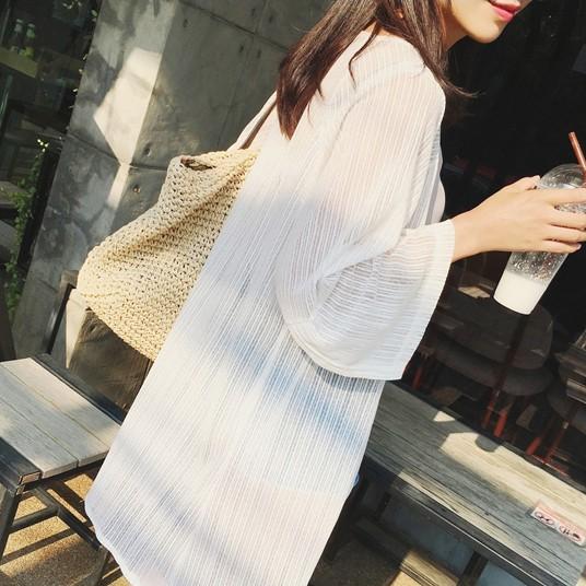 Women Mesh Loose Cardigan Summer Fashion Ladies Plus Size Sun Screen Clothing