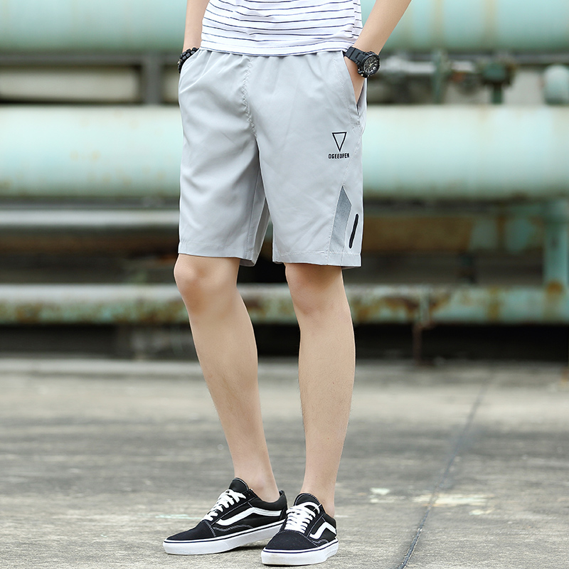 Men's Casual Sports Shorts Zippered Side Pocket Summer Fashion Plus Size Bottoms