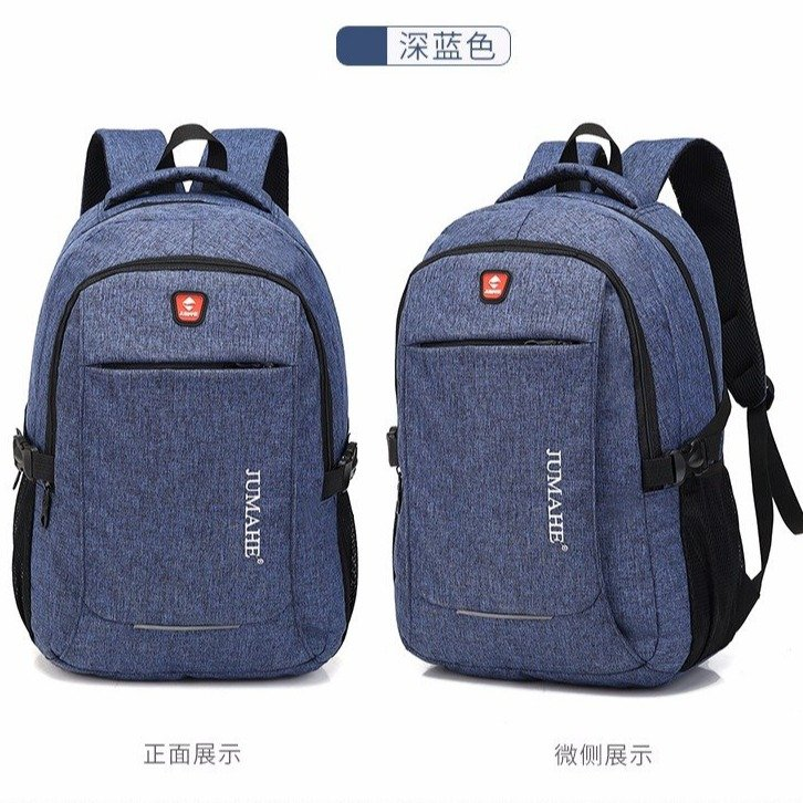 Men's Travel Laptop Backpack Large Capacity Secured Outdoor Zippered Backpack