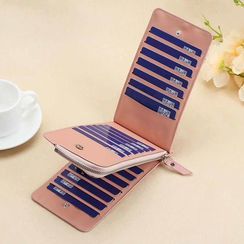 Women Fashionable Long Multi Card Compartment Ultra Thin Bills Wallet Purse
