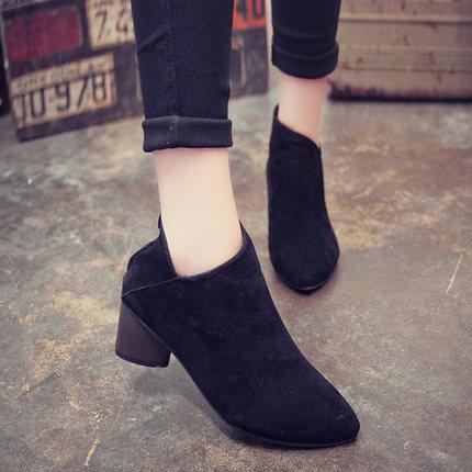 Pointed Short Martin Boots High-Heels