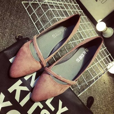 [READY STOCK] Shallow Mouth Flats Shoes