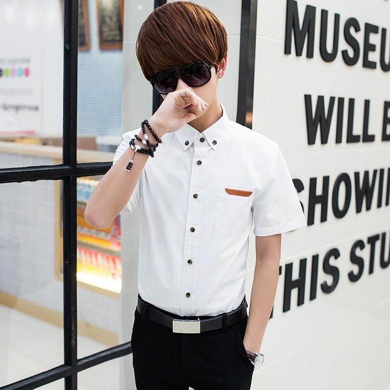 Men's Casual Light Color Polo Shirt Short Sleeve Button Up Fashion Shirts