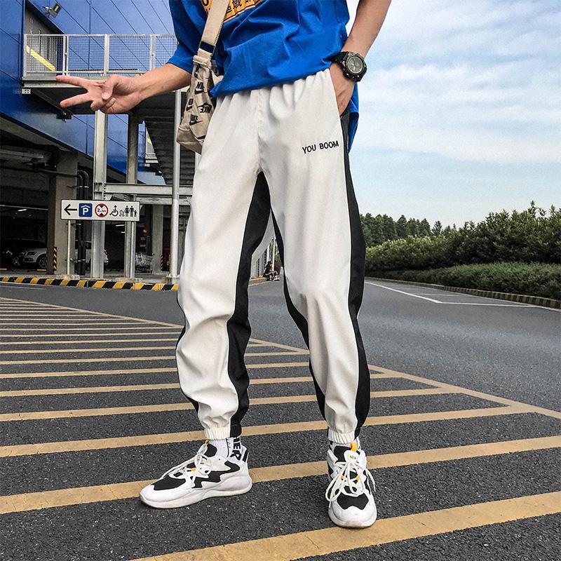 Men\'s Hip Hop Sports Trousers Hot Trend Male Fashion Loose Plus Size Pants