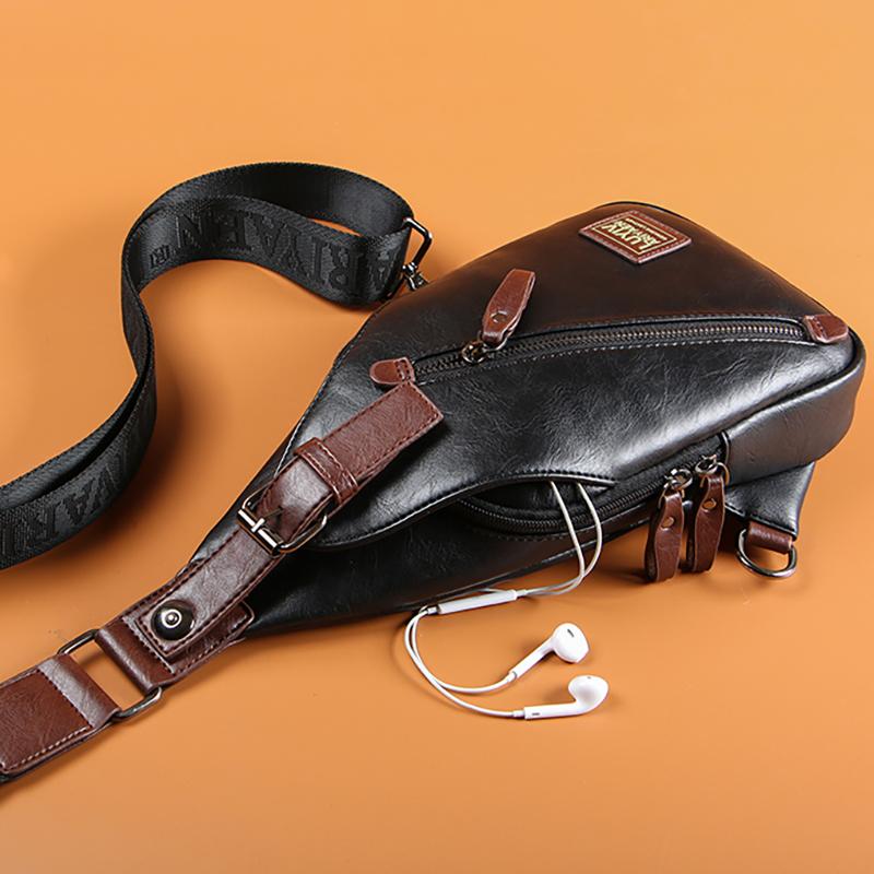 Men\'s Waterproof Medium Chest Bag Multi Function Small Travel Fashion Sling Bag