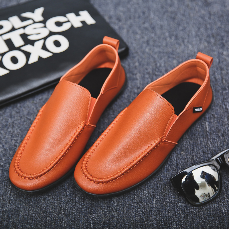 Men's Solid Color Casual Peas Shoes Everyday Wear Comfort Style Male Casual Shoe
