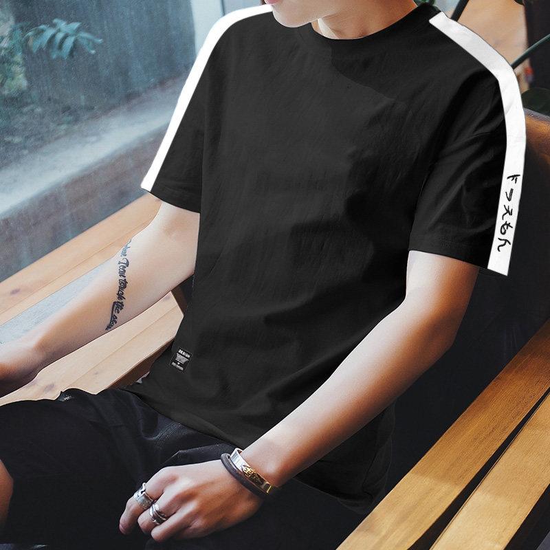 Men's Basic Round Neck Short Sleeve Loose Tops Male Fashion Plus Size Tees