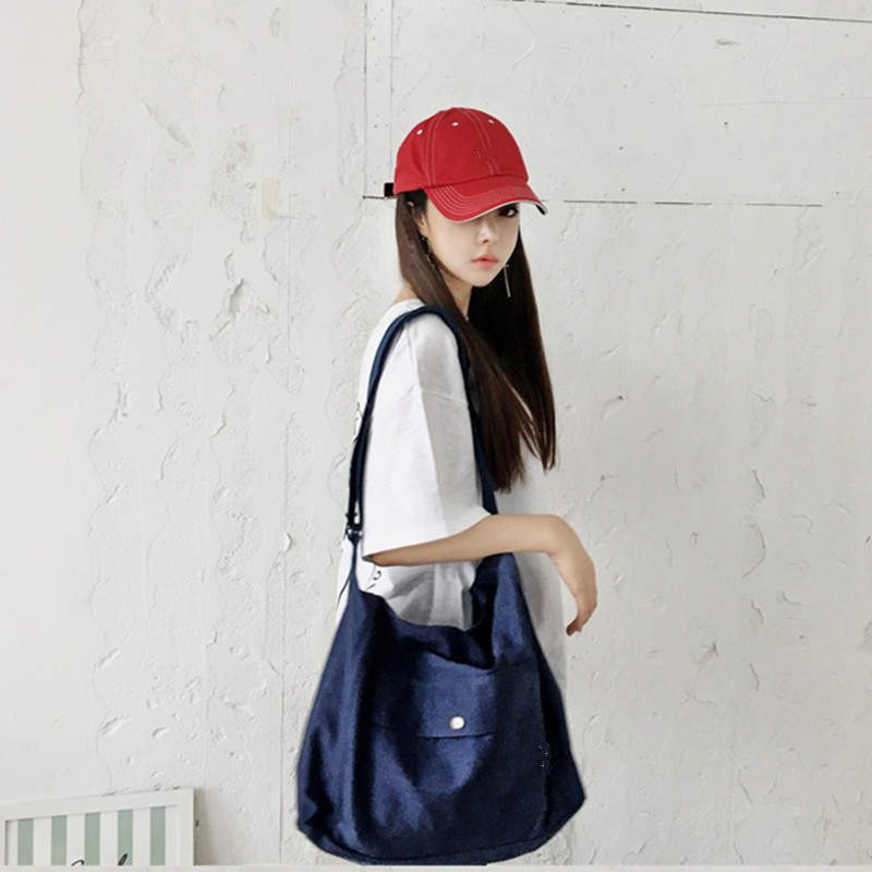 Women Large Capacity Shoulder Shopping Bag Travel Outdoor Retro Fashion Bag
