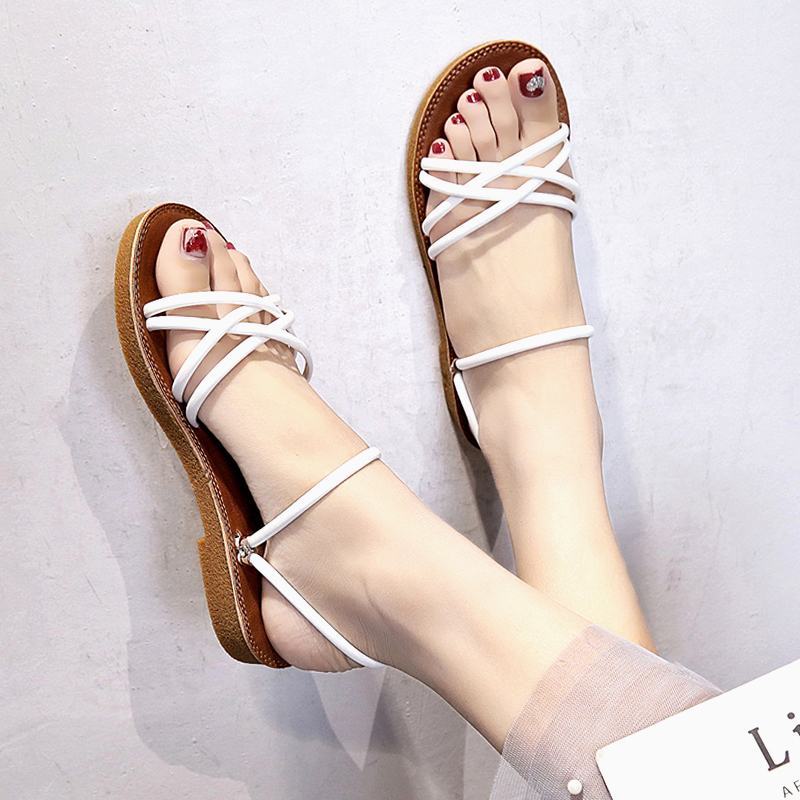 Women Dual Wear Slipper Sandals Summer New Fashion Ladies Plus Size Flat Sandals
