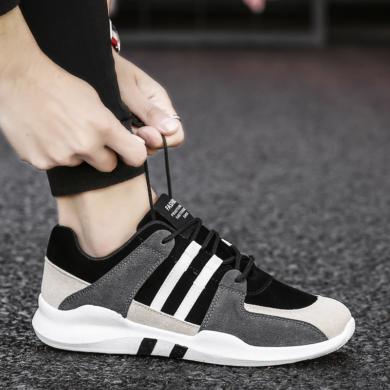 Men's Wild Trend Running Sports Shoes Lace Up Street Wear Fashion Rubber Shoes