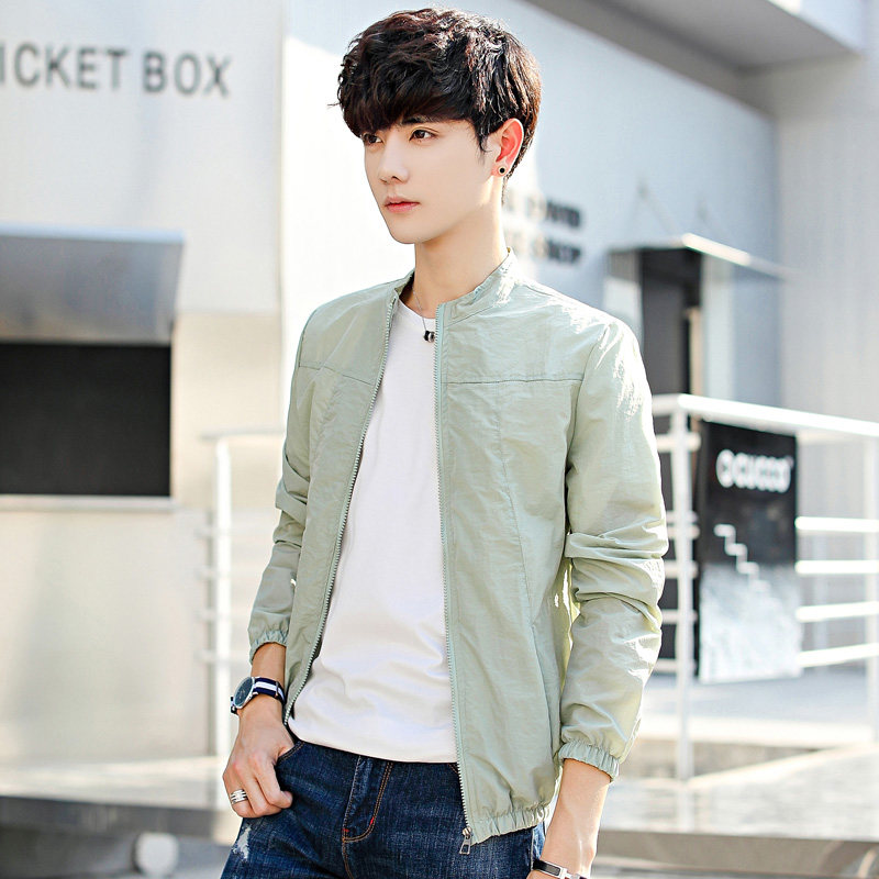 Men's Breathable Thin Coat Long Sleeves Summer Protection Plus Size Jacket