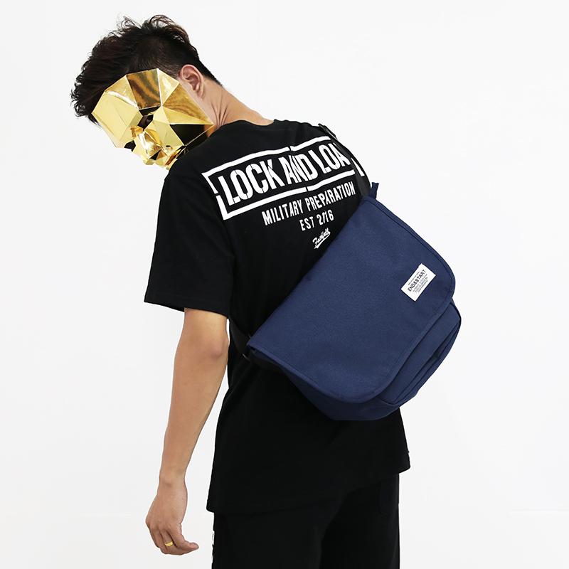 Men's Overlapping Large Capacity Messenger Bag Durable Fashion Cross Body Bag