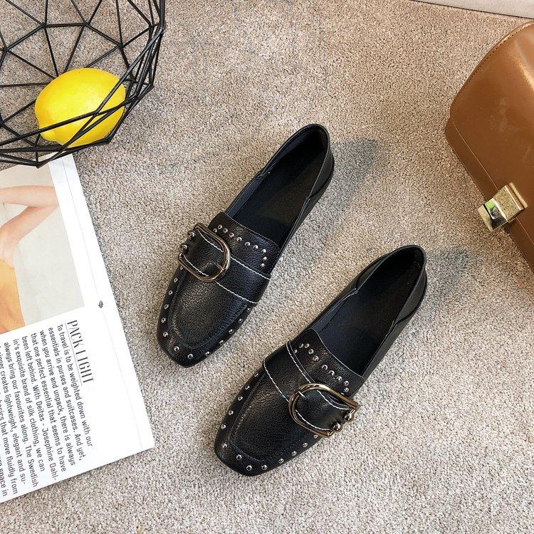 Women Retro Peas Shoes Fashionable Grandma Shoes Ladies Plus Size Flat Shoes