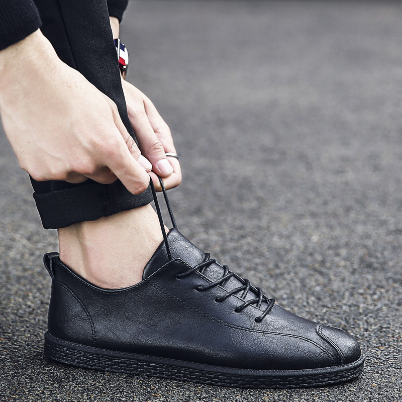 Men\'s Casual Lace Up Shoes Office Daily Fashion Male Handsome Trendy Shoes