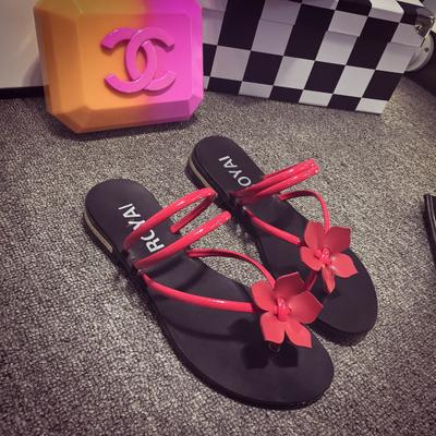 Flower Rubber Flat Flip flops Sandals