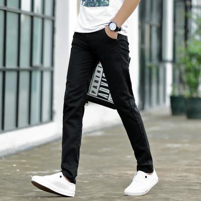 Men\'s Slim Fit Straight Long Pants Street Wear Male Fashion Trendy Trousers