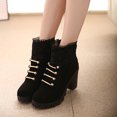 [READY STOCK] Lace Martin Zip Boots Shoes