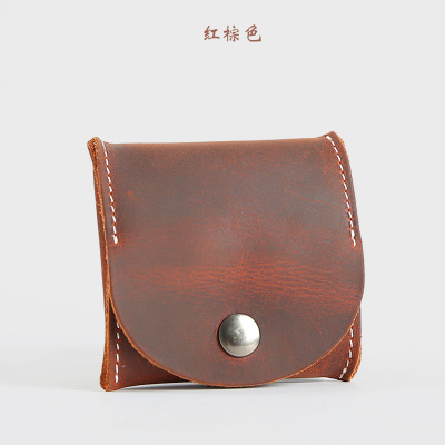 Men\'s Multi-Function Mini Coin Purse Leather Bucket Wallet
