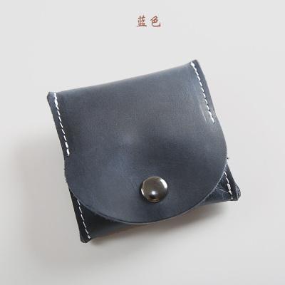 Men's Multi-Function Mini Coin Purse Leather Bucket Wallet