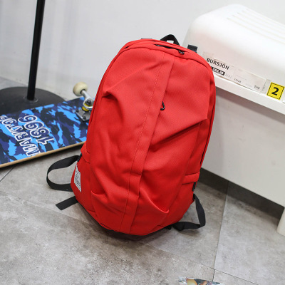 Men's Simple Canvass Student Bag Travel Couple Medium Backpack