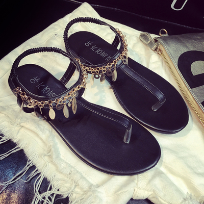 Korean Sandals Korean Bohemian Chain Sandals Chain H2YeW9IDbE
