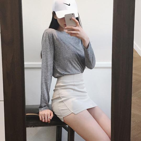 Women\'s High Waist Stretch Professional Skirt Short Hip Plus Size Skirt