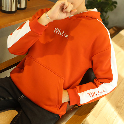 Men's Plus Size Hooded Sweater Student Pullover Loose Coat