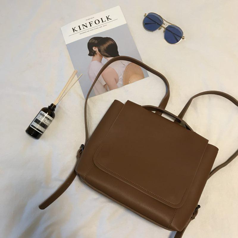Women\'s Simple Shoulder Bag Large Capacity Backpack Casual Student Bag
