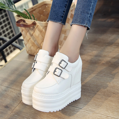 Women\'s Autumn Thick Bottom Shoes High Heel Casual Platform Shoes Wedge Shoes