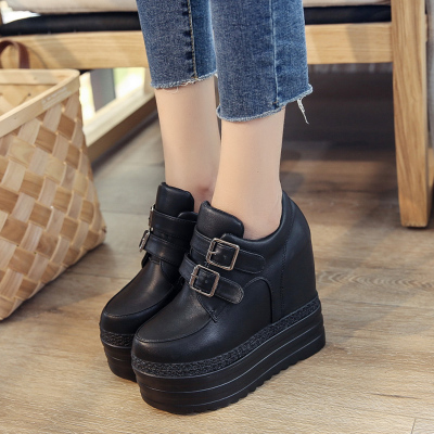 Women's Autumn Thick Bottom Shoes High Heel Casual Platform Shoes Wedge Shoes