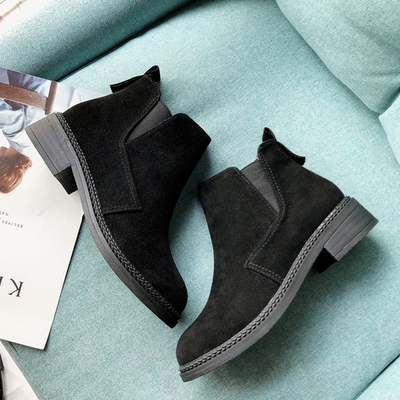Women Chelsea Boots Thick Square Heel Trendy Fashion Wedge Platform Boots